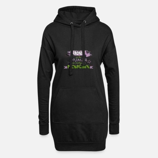 Gift Idea Hoodies & Sweatshirts - Irony | Sarcasm | humor - Women's Hoodie Dress black