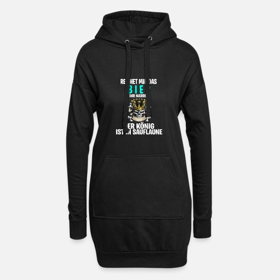 Birthday Hoodies & Sweatshirts - Beer Garden Beer Gift Oktoberfest Dirndl Costume - Women's Hoodie Dress black