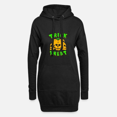 Trick Or Treat Trick or treating! Trick or treat! - Women's Hoodie Dress