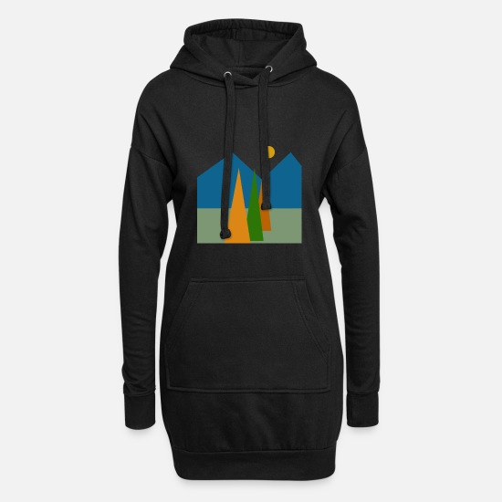 Art Hoodies & Sweatshirts - Abstract nature, Abstract nature. - Women's Hoodie Dress black