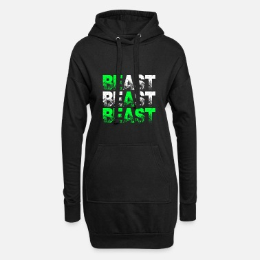 Beast Beast Beast Beast Motivation - Women's Hoodie Dress
