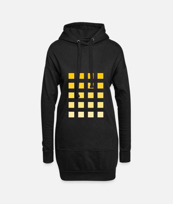 Beautiful Hoodies & Sweatshirts - Yellow squares gradient bright dark - Women's Hoodie Dress black