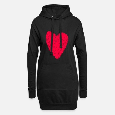 Red Red heart - Robe sweat Femme