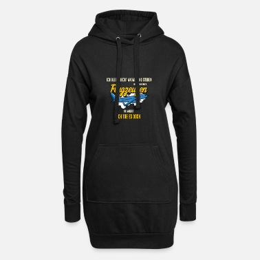 Right View aircraft airplane aviation gift - Women's Hoodie Dress