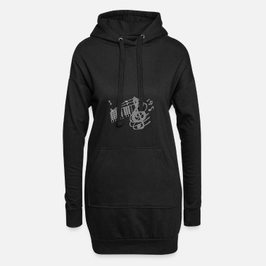 Octave Octave violin notes melody clef musician - Women's Hoodie Dress