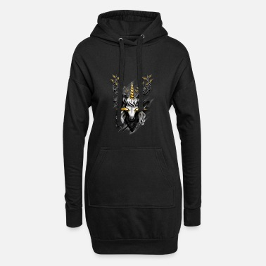 Hirsch Deer Unicorn - Frauen Hoodiekleid