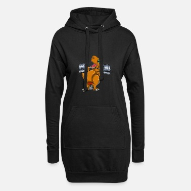 Muscles Tyrannosaurus bench press - Women's Hoodie Dress