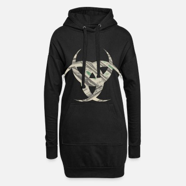 Virus Virus dollars - Women's Hoodie Dress