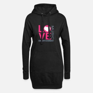 Love Music Entertainment - Frauen Hoodiekleid