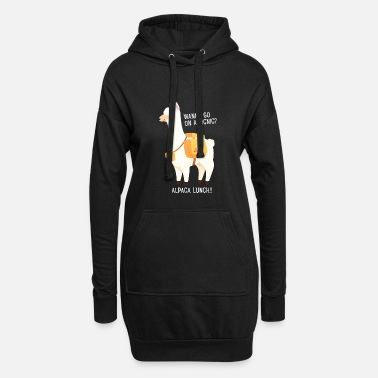 Quotes Picnic? Alpaca Lunch! - Women's Hoodie Dress