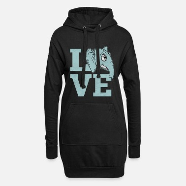 896ca6531 Animal Love Love elephant animals love animal love animal lover -  Women  39 s. Women s Hoodie Dress