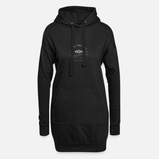 "New York Pullover & Hoodies - New York City ""Empire State Building"" - Frauen Hoodiekleid Schwarz"