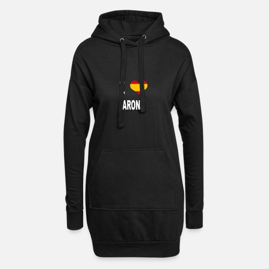 Love Hoodies & Sweatshirts - I Love Spain ARONA - Women's Hoodie Dress black