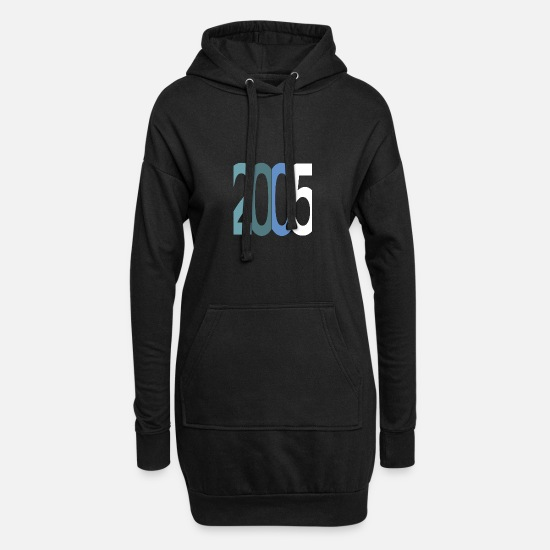 Birthday Pullover & Hoodies - Established 2005 - Frauen Hoodiekleid Schwarz