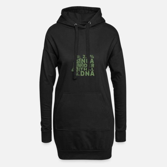 Birthday Hoodies & Sweatshirts - Neanderthal - Women's Hoodie Dress black