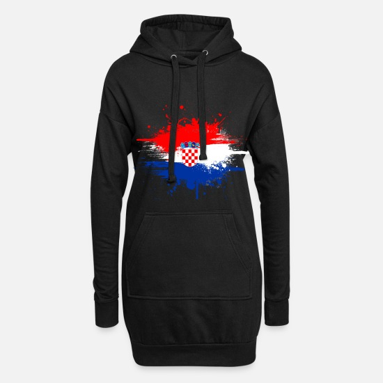 Croatie Sweat-shirts - Croatie pays et pays - Robe sweat Femme noir