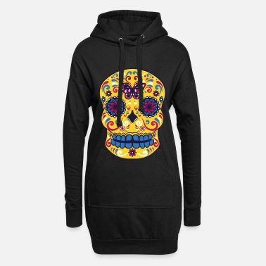 Day Sugar Skull - Day of the dead - Women's Hoodie Dress