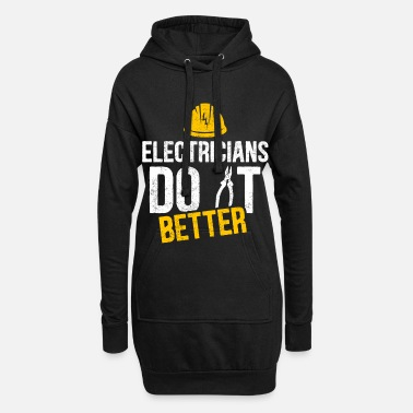 Uncle Electrician witty saying profession gift idea - Women's Hoodie Dress