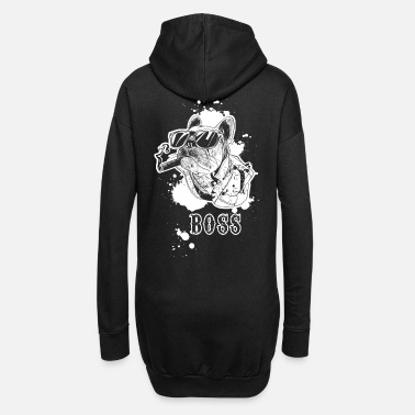 French bulldog boss boss dog motif idea - Women's Hoodie Dress