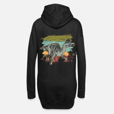 Hadrosaurus dinosaur wilderness prehistoric fossil - Hoodie Dress