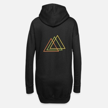 Drucker Dreiecke triangle t-shirt design - Frauen Hoodiekleid