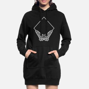 Frame Triangle frame with ornaments decoration - Women's Hoodie Dress