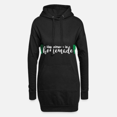 Happiness Happiness Is Homemade Gift Happiness - Vrouwen hoodie jurk