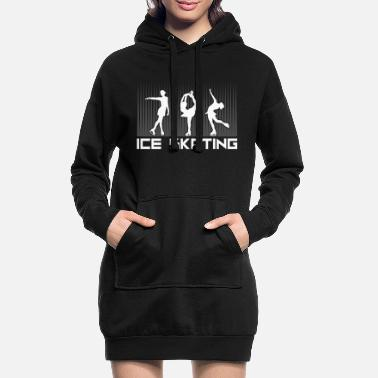 Ice Ice Skating Ice Skating Ice Skating Ice Skate - Women's Hoodie Dress