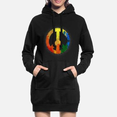 Hippie Movement Hippie Hippie Movement Peace Movement Peace - Women's Hoodie Dress