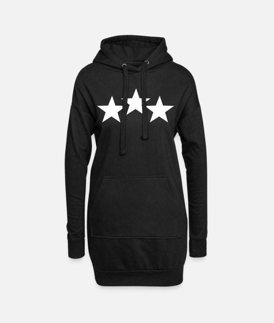 Symbol  Hoodies & Sweatshirts - star - Women's Hoodie Dress black