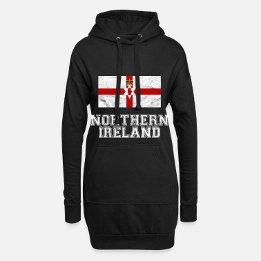 Ireland Northern Ireland Flag Reduced Kingdom Gift - Women's Hoodie Dress