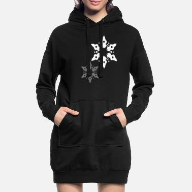 Snow Crystal A snow crystal - Women's Hoodie Dress