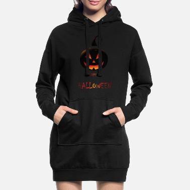 Trick Or Treat Citrouille Happy Halloween - Robe sweat Femme