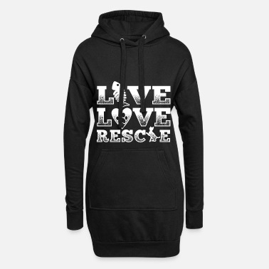Rescue Rescue animal shirt abandoned cat Live love rescue - Women's Hoodie Dress