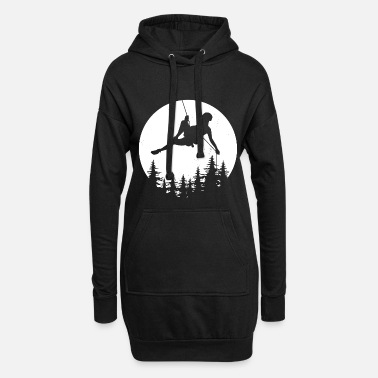 Rock Moon climber climbing rappel gift mountains - Women's Hoodie Dress