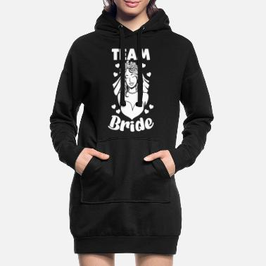 Party Team Bride Women Bachelor Party Party Motif - Women's Hoodie Dress