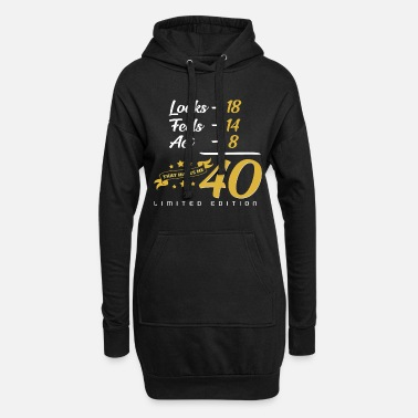 Funny 40th birthday - Women's Hoodie Dress