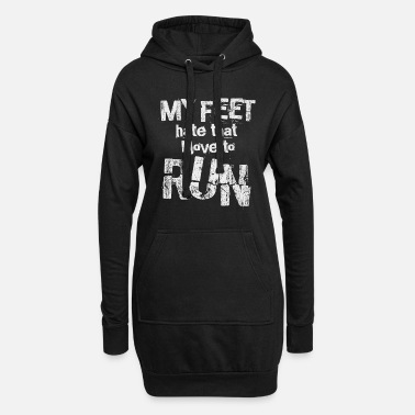 Running Runner saying | Running feet funny sport joggers - Women's Hoodie Dress