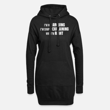 Funny funny saying funny sayings - Women's Hoodie Dress