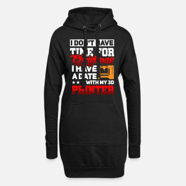 3d 3D Printer Printer Christmas Funny saying - Women's Hoodie Dress