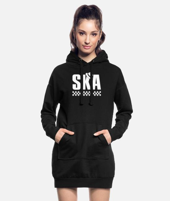 Rasta Hoodies & Sweatshirts - Ska Music Reggae Tea - Women's Hoodie Dress black