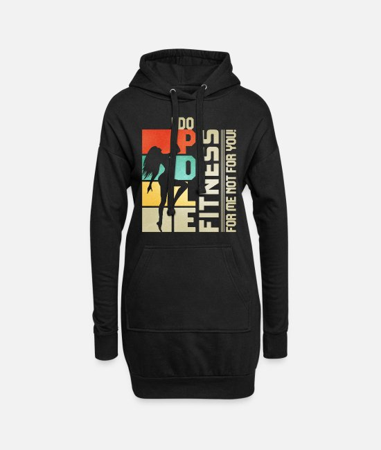 Pole Dance Hoodies & Sweatshirts - I Do Pole Dance Fitness For Me Not For You - Women's Hoodie Dress black