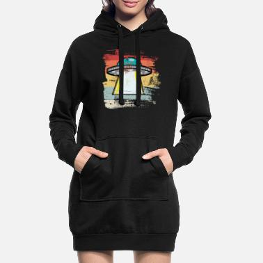 Outerspace Retro Outerspace - Women's Hoodie Dress