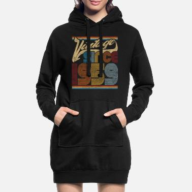 Old School Vintage Since 1959 Gift for 62nd Birthday - Women's Hoodie Dress