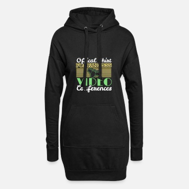 Job Underwear Video conference office humor work colleagues - Women's Hoodie Dress