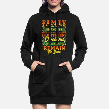 Family Crest FAMILY | Family Values Family Crest Gift - Women's Hoodie Dress