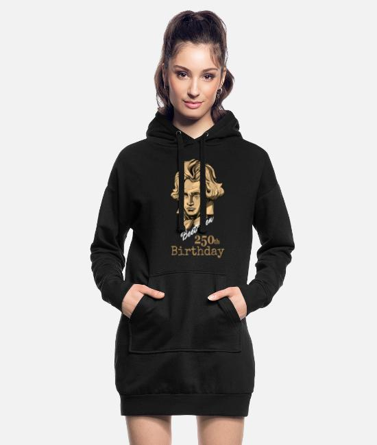 Composer Hoodies & Sweatshirts - Beethoven 250 years - Women's Hoodie Dress black