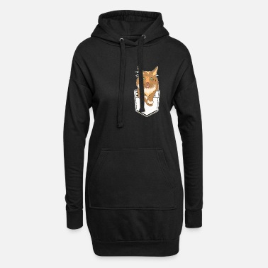 Animal De Compagnie Chat mignon poche Maine Coon chaton cadeau Kitty - Robe sweat Femme