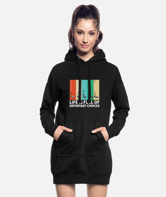 Golf Hoodies & Sweatshirts - Golf Golf Clubs - Women's Hoodie Dress black