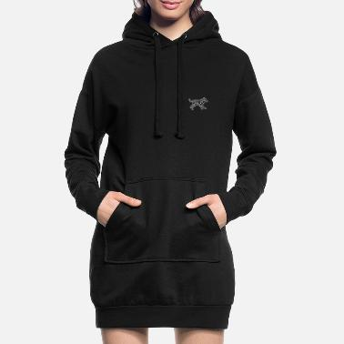 Wolf Wolf with steppe gift idea white - Women's Hoodie Dress